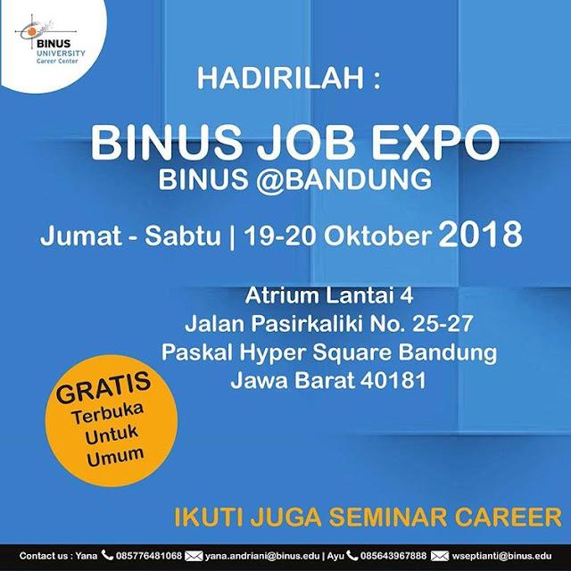 Bursa Kerja BINUS Job Expo (Gratis)