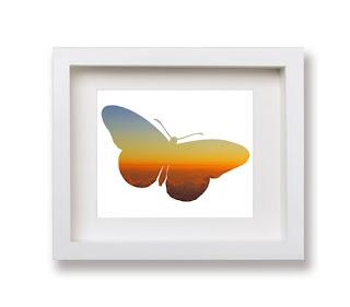 Butterfly silhouette wall art by Kim W. Nolan
