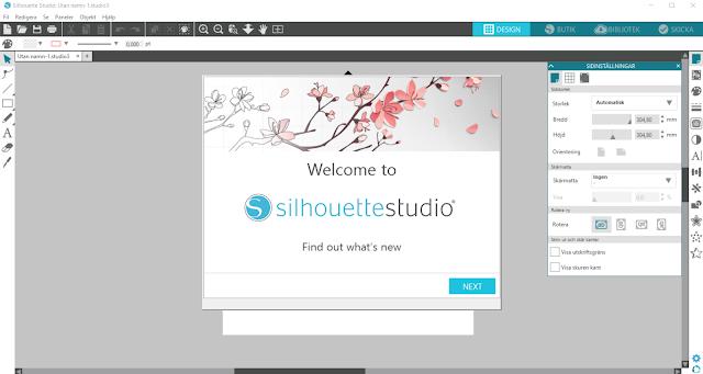 Välkommen till Silhouette Studio v.4