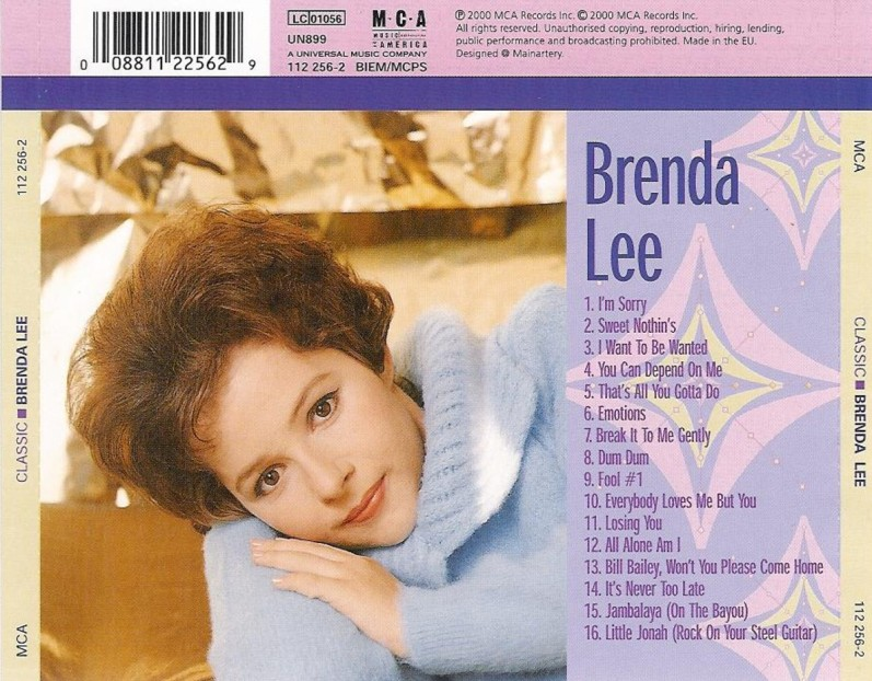 Cd Classic Brenda Lee Classic%2Bback