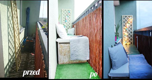 balkon przed i po
