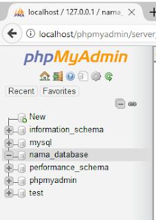 cara membuat database di xampp, cara membuat database dengan xampp