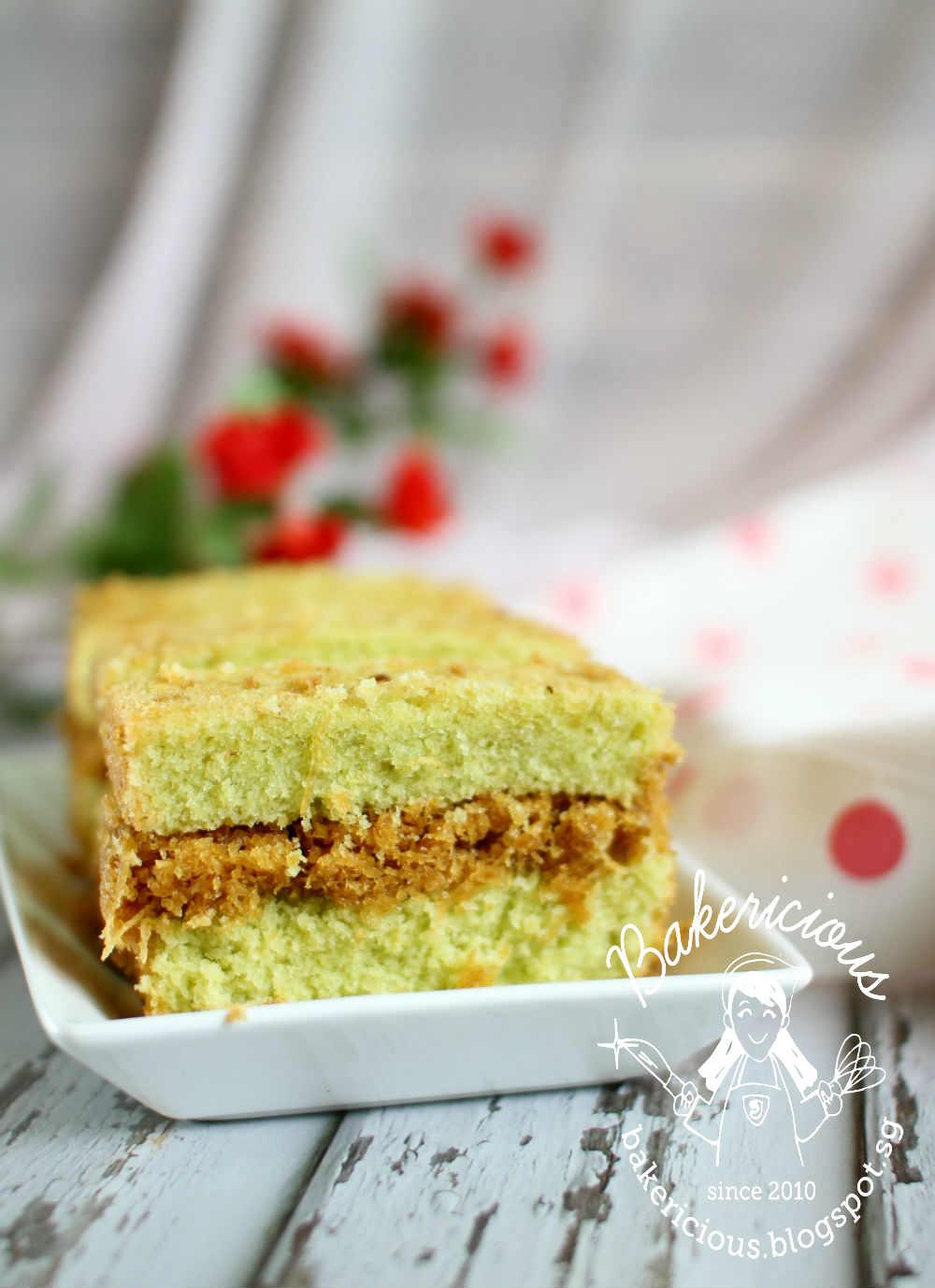 Bakericious: Pandan Butter Cake with Gula Melaka Filling