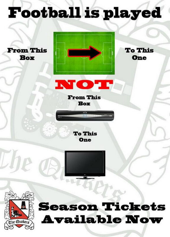 Darlington promoting season tickets with this brilliant advert