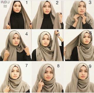 torial hijab pashmina 2017 tutorial pashmina simple