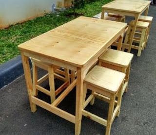 kursi cafe kayu minimalis