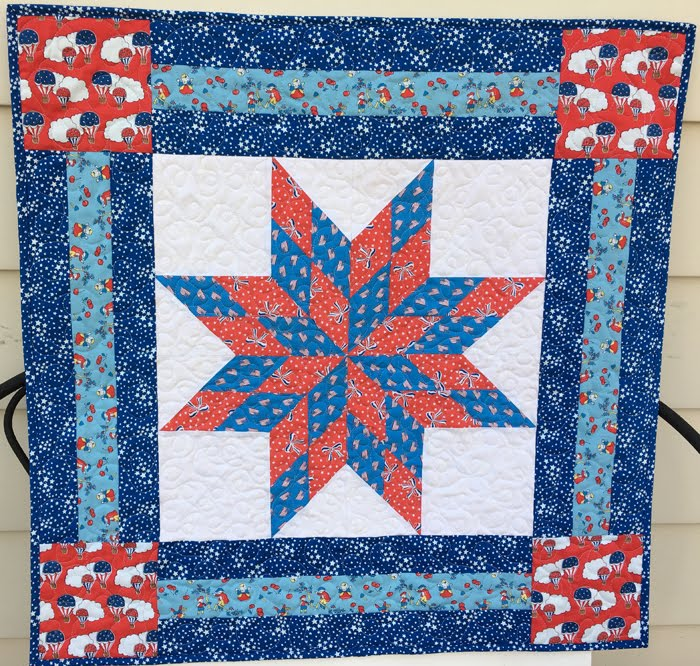 One Block Lone Star Quilt