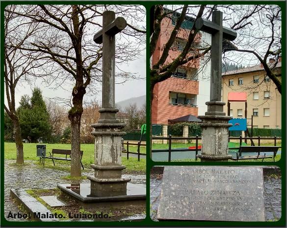 Monumento al Árbol Malato. Luyando - Luiaondo. Álava