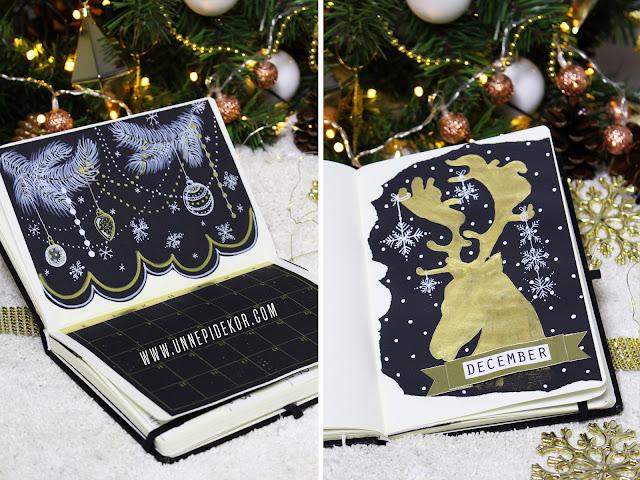 Bullet Journal December Havi tervező