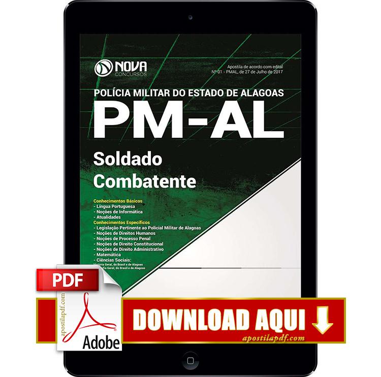 Apostila PM AL 2017 PDF Download Soldado Combatente