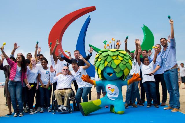 Escultura Paralímpica em Copacabana - Foto de Alex Ferro