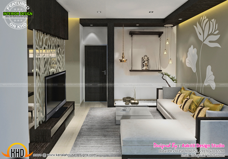 Dining, kitchen, wash area interior - Kerala home design ...