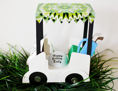 Golf Cart Gift with Silhouette