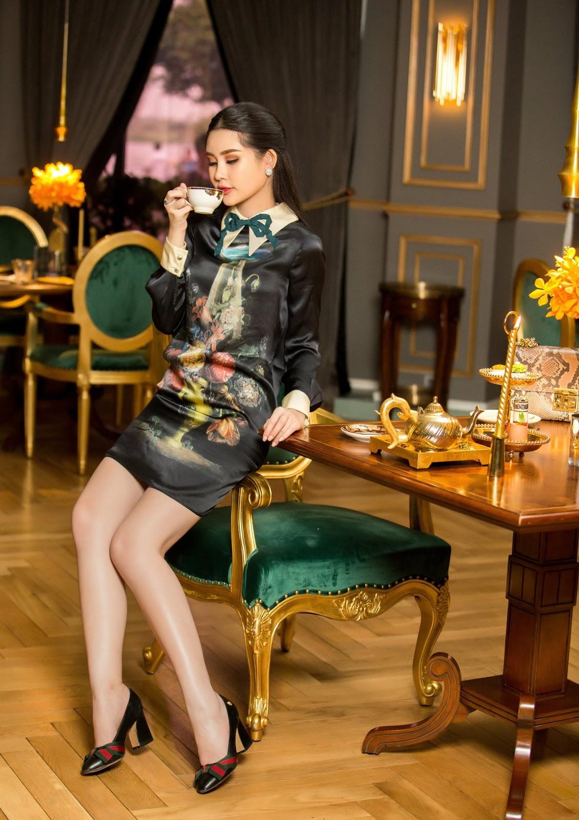 Hoa hậu Ngân Anh diện váy bó sát khoe thân hình chữ S đầy 'mê hoặc' -8