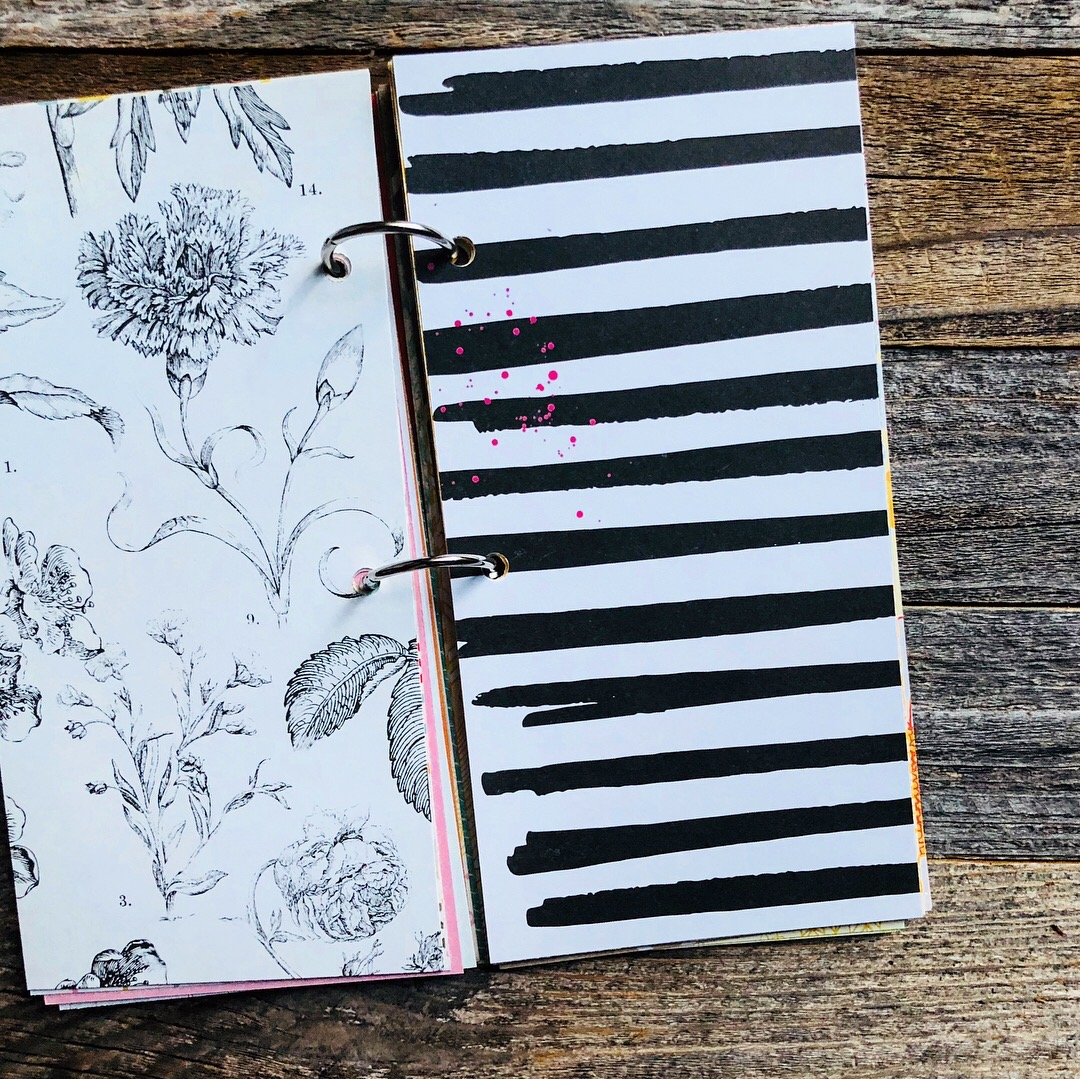 #mixed paper journal #listing notebook #30lists #30 Days of Lists #mini album #mini book # memorykeeping #scrapbooking #mixed media journal #smashbook