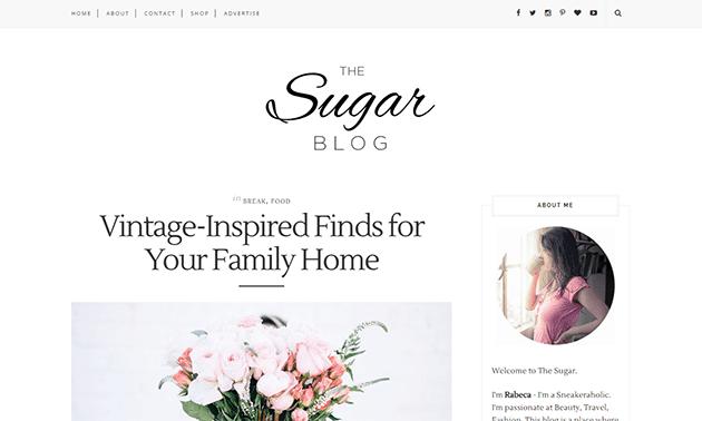 Sugar Blogger Blogspot Template Responsive