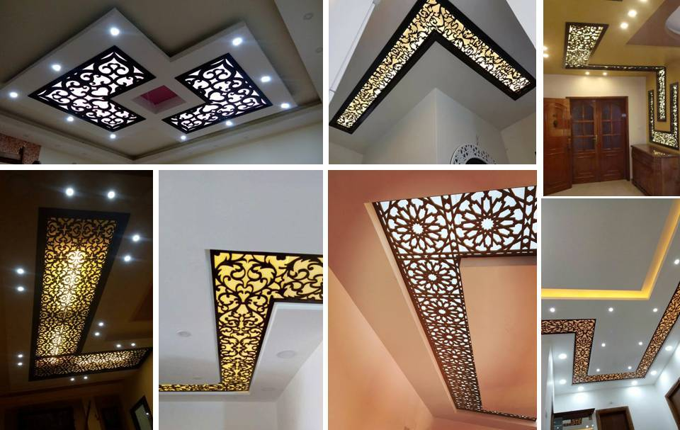 16 Modern CNC False Ceiling Corner Designs Ideas Decor Units