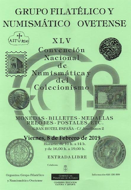Cartel Convención de numismática y coleccionismo, Oviedo