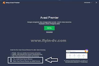 Cara Instal Antivirus Avast Premier tahap 1