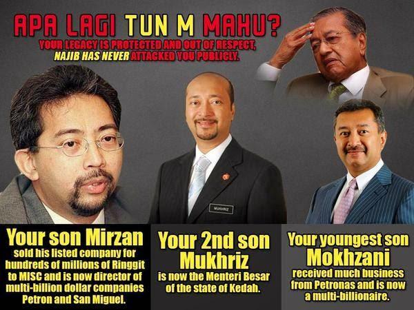 Kekayaan 3 Anak-Anak Dr. M