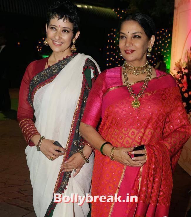 Manisha Koirala and Shabana Azmi, Bollywood Babes at Vishesh Bhatt Wedding Reception