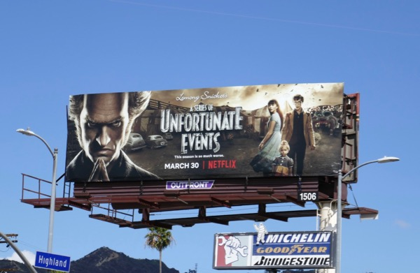 A Series of Unfortunate Events season 2 billboard