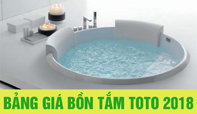 Bảng giá bồn tắm TOTO 100% giá gốc 2018 chính hãng