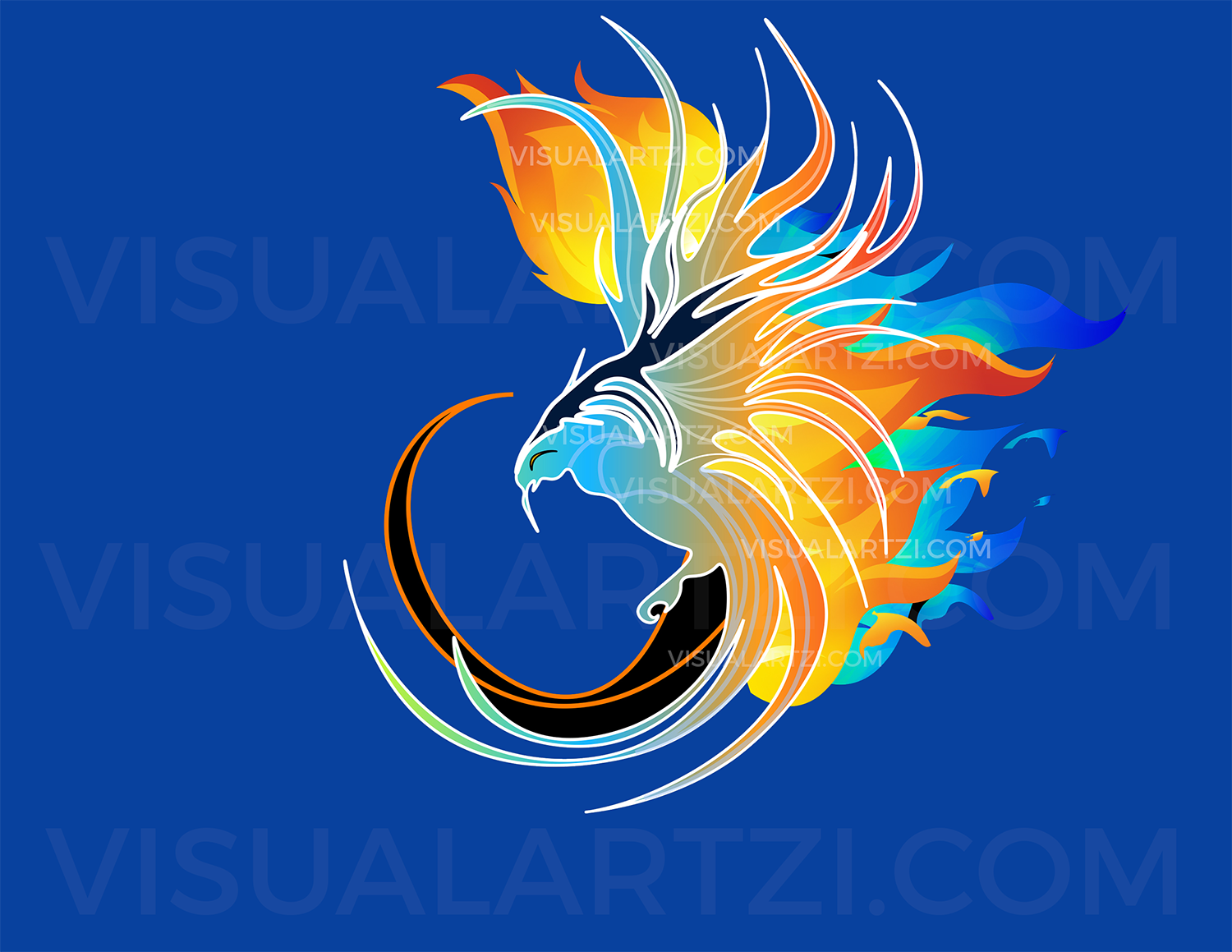Visualartzi Get Personal | Flaming Phoenix illustration