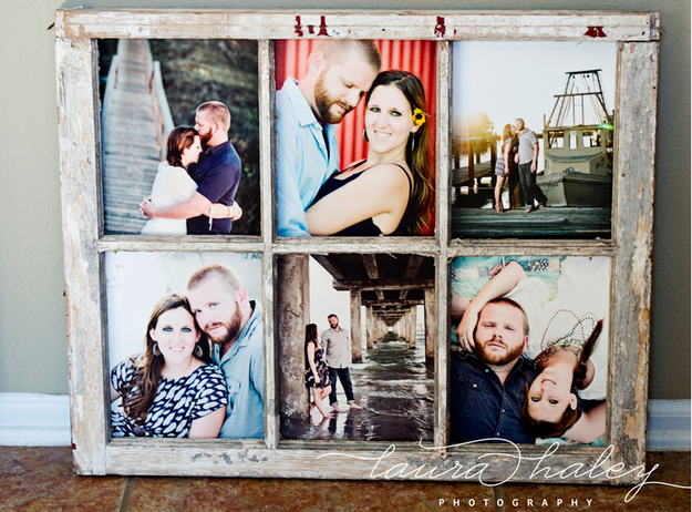 Photo Frame With Rustic Wood