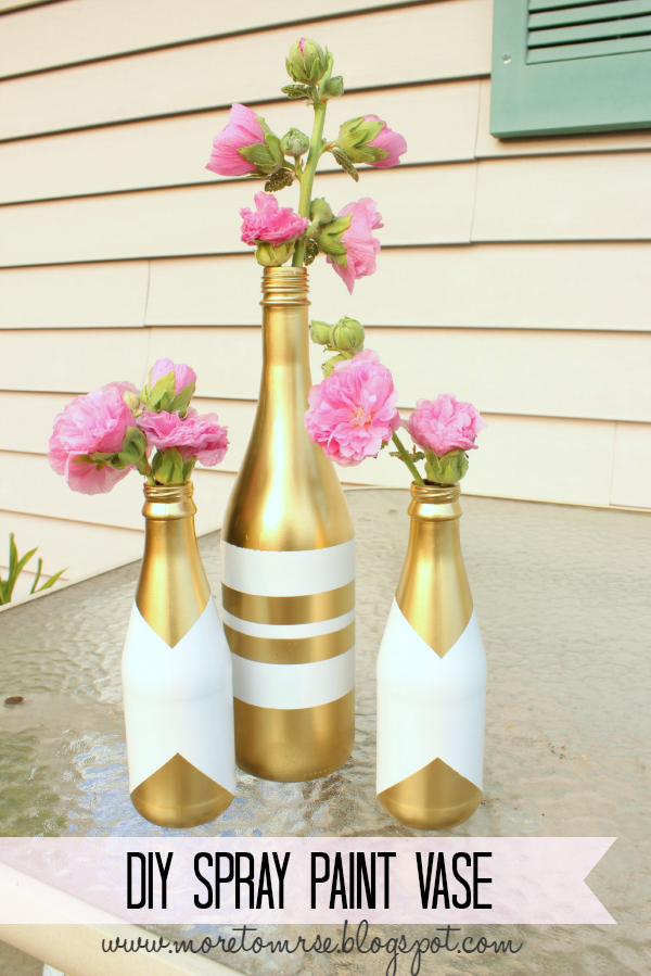 Diy Spray Paint Vase More To Mrs E