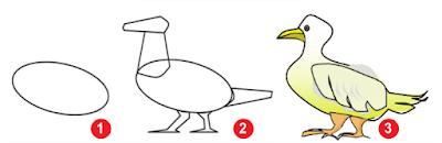 teknik menggambar itik fauna materi seni budaya smp kelas 7 kurikulum 2013