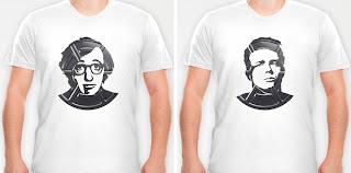 Diseño de camiseta con estrellas  del cine