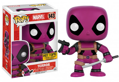 Hot Topic Exclusive Deadpool & the Mercs for Money Pop! Marvel Mystery Blind Box Vinyl Figures by Funko - Purple Deadpool Terror