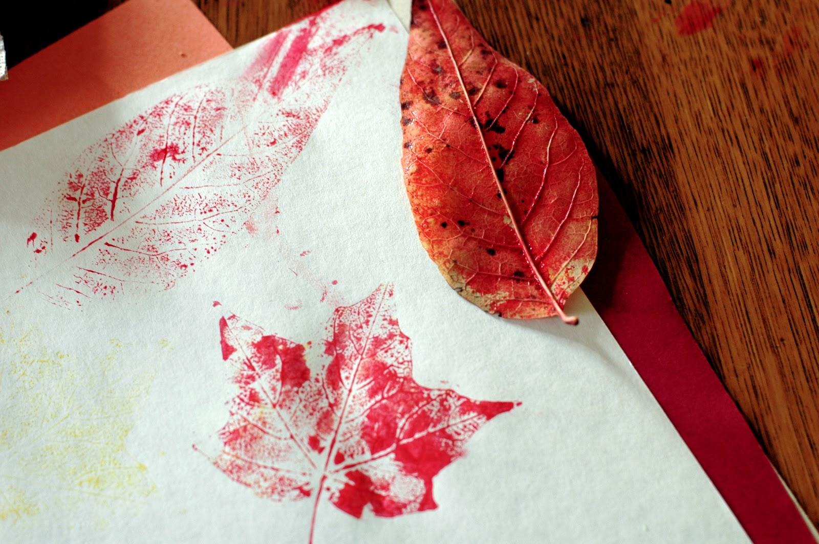 FreshlyPlanted: create (with kids): leaf printing