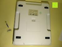 unten: DBPOWER® Digitale Küchenwaage, Multifunktionsküche-Nahrungsmittelskala Messen, 11 £ / 5kg High Precision Berührungsbildschirm, Hartglas, Weiß