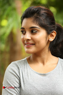 Actress Niveda Thomas Pictures in Black Jeans at Gentleman Movie Interview  0040.JPG