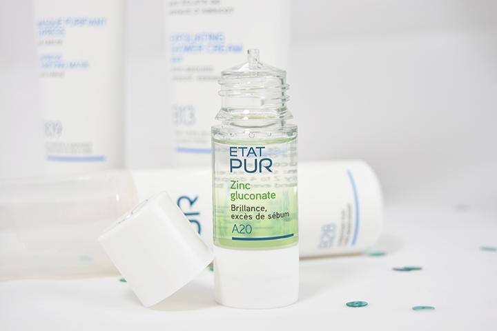 actif pur zinc gluconate état pur