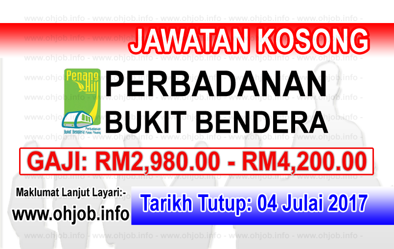 Jawatan Kerja Kosong Perbadanan Bukit Bendera Pulau Pinang logo www.ohjob.info julai 2017
