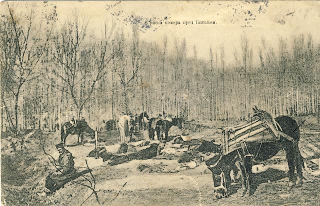 Serbian army unit near Bitola - First Balkan War Battle of Bitola (Battle of Monastir) - 16 to 19 November 1912