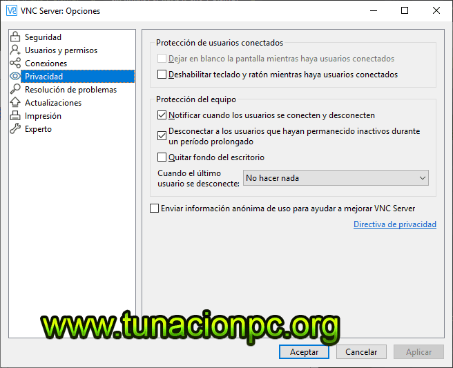 VNC Connect Enterprise full gratis español