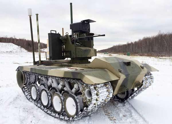 Роботизированный комплекс огневой поддержки «Нерехта», на испытаниях