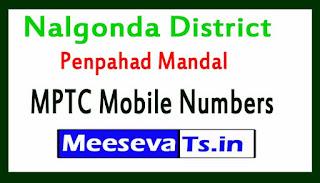 Penpahad Mandal MPTC Mobile Numbers List Nalgonda District in Telangana State