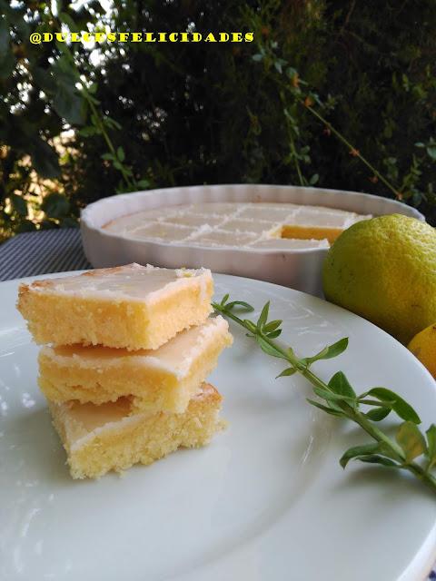 Brownie de limón con glaseado