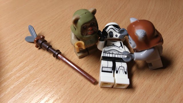 Фигурки лего эвоки и штурмовик, Звездные войны купить