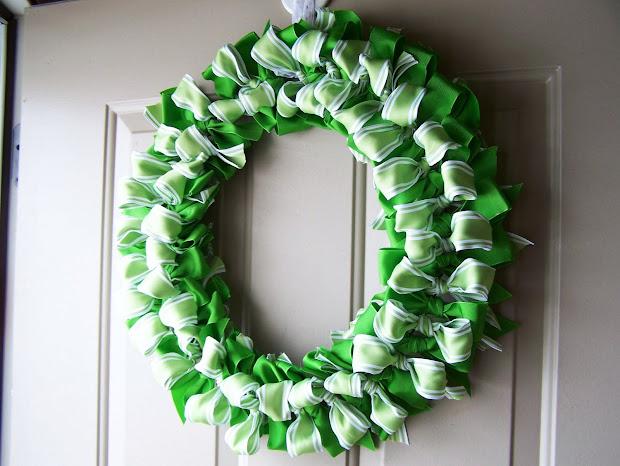 Babsmadeit Ribbon Wreath Tutorial