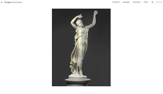 Ein Bild einer Skulptur auf der Google Arts & Culture Webseite