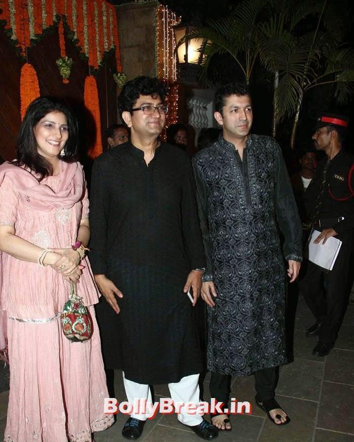 Prasoon Joshi, Kunal Kohli, Photos from Amitabh Bachchan's Diwali Bash 2014