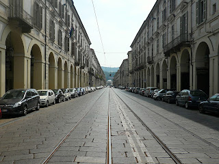 Turin is famous for its arcaded streets