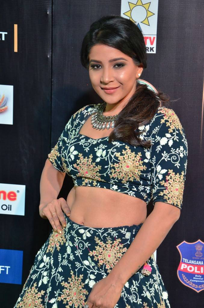 Tollywood Actress Sakshi Agarwal At IIFA Awards 2017 In Green Dress