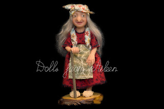 ooak 'Baba Yaga' witch doll